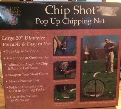 Chip shot pop up chipping net golf game