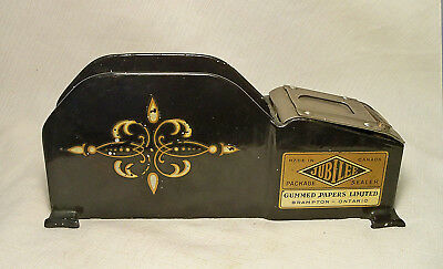 RARE 1930's HEAVY CAST IRON ENAMEL ART DECO MACHINE AGE GUM PAPER PACKAGE SEALER