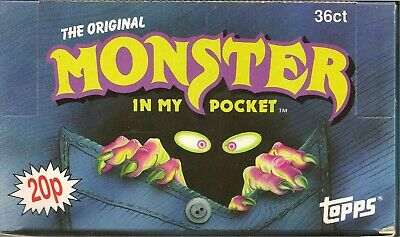 1991 Topps Uk Ireland Matchbox Monsters In My Pocket Gum Empty Shop Display Box