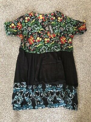 Boohoo Maternity Floral Smock Dress Size 14
