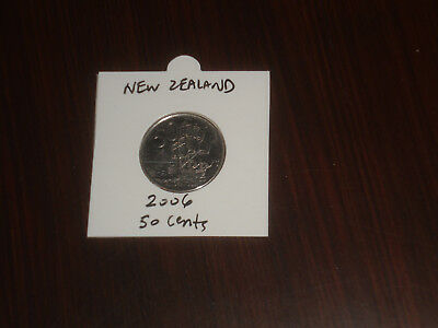 2006 New Zealand 50 Cent coin Kiwi fifty cents NZ