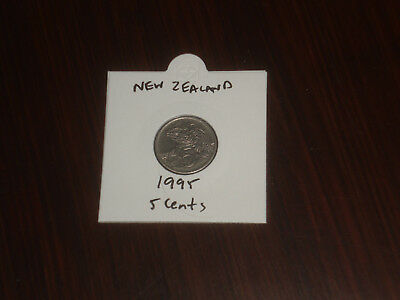 1995 New Zealand 5 Cent coin Kiwi five cents NZ