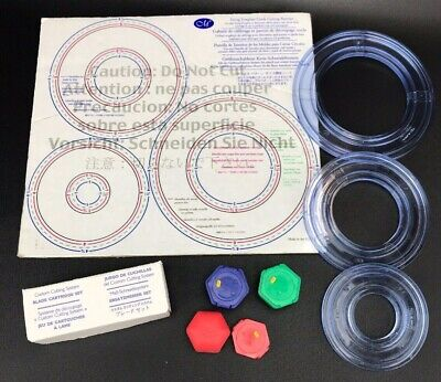 Creative Memories Custom Cutting System Circles w Template w Blade Cartridge Set