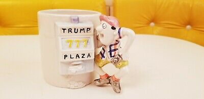 Vintage Trump Plaza Casino Gambling Player Slot Machine Novelty Mug Omnibus 777