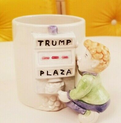 Vintage Trump Plaza Casino Gambling Player Slot Machine Novelty Mug Omnibus