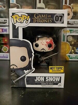 Funko Pop! Game of Thrones Bloody Jon Snow #07 Hot Topic WITH PROTECTOR!
