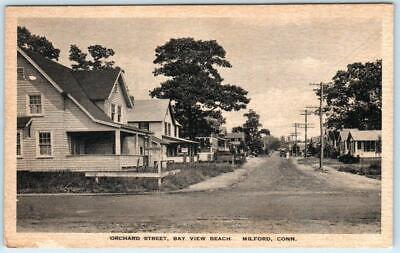 Surprising Milford Connecticut Ct Orchard Street Scene Bay View Beach Postcard Download Free Architecture Designs Embacsunscenecom