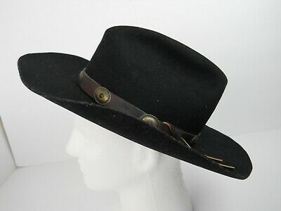 f06243028 BAILEY TOMBSTONE COWBOY Hat, BLACK, XX WOOL BLEND Felt, Sz 7 1/8 ...