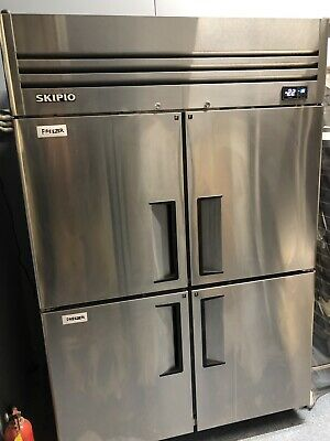Commercial 4 Split Door Upright Freezer