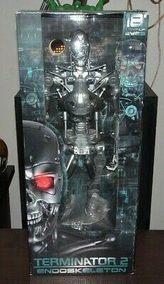 """Neca Reel Toys 18"""" inch 1/4 Scale Terminator T2 T-800 Endoskeleton Not Hot Toys"""