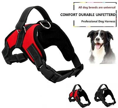 No Pull Dog Harness with 4 Snap Buckles Pet Harness Adjustable Outdoor Pet Vest