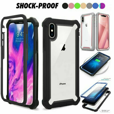 For iPhone XS MAX XR 7 8 Plus Shockproof Heavy Duty Hybrid Clear Cover Case