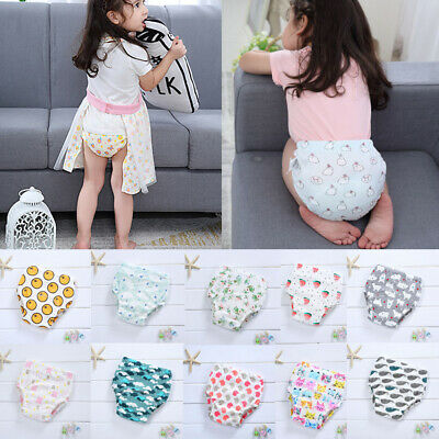 Newborn Diaper Learning Pants Baby Toddlers Training Pants Colorful Briefs  4pcs
