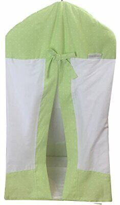 Kidz Kiss Green Petit Dots Nappy Stacker [63cm x 43cm] Premium Cotton, with