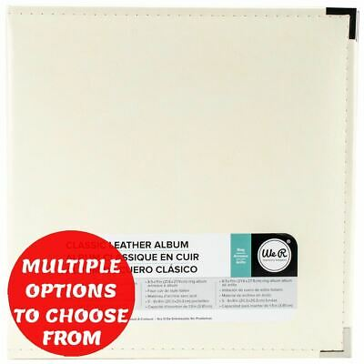 """We R Classic Leather D-Ring Album 8.5""""X11""""-WRRING8 -Choose Options"""