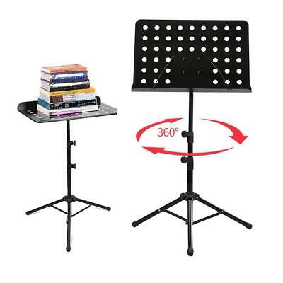 Heavy Duty Orchestral Sheet Music Stand Holder Tripod Base Iron Black