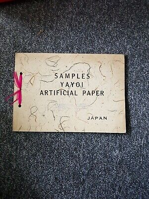 Vintage YAYOI Artificial Paper Samples from Japan