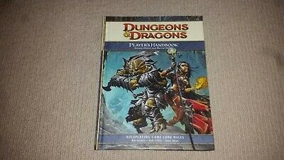 Dungeons & Dragons Players Handbook 1 Core Rules 4th Edition Hardcover Rule Book