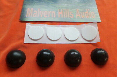 4 x 18 mm. Diameter Sorbothane Isolation Feet. Improve Hi-Fi Sound Reproduction