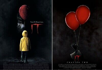 Stephen King IT 27x40 Original DS Theater Poster LOT Chapter Two  PENNYWISE +3DS