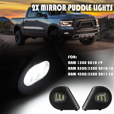 LED Side Mirror Puddle Light Lamp For Dodge Ram 1500 2500 3500 4500 5500 2010-19