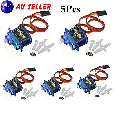 5Pcs SG90 9G Micro Servo Motor Kit For RC Robot Car Helicopter Airplane Control