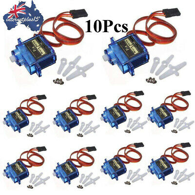 10Pcs SG90 Micro Servo Motor For RC Robot Helicopter Airplane Arduino Control AU