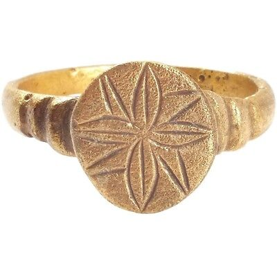 LARGE EARLY CHRISTIAN PILGRIM'S RING 7th-10th CENTURY