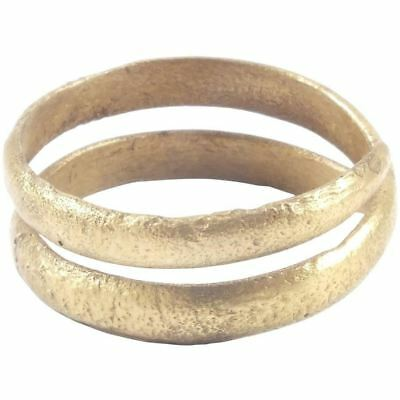 ANCIENT VIKING COIL RING 850-1050 AD Size 7 ¼. 17.6mm