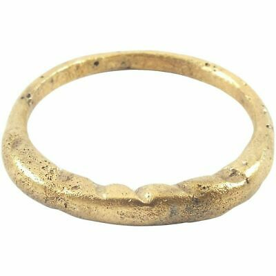 ANCIENT VIKING MAN'S RING, 9th-10th CENTURY AD Gilt bronze, size 11.