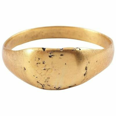 ANCIENT  BYZANTINE GILT RING C.8th-11th CENTURY Size 10 ¼. 20.2mm