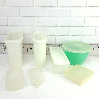 Vintage Tupperware Lot Containers Food Storage Modular 5 Piece with Lids