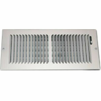 Shoemaker 850 Series 12X6 White 2-Way Stamped Vent Cover