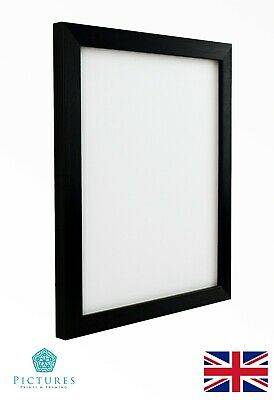 Black Photo Picture Frame 19mm 15x15 15x20 15x25 15x30x15x35-15x50cm MOUNT Glass
