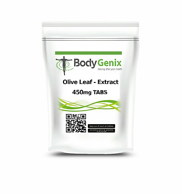 Olive Leaf Extract 450mg Tabs Cold Flu Viral, BODYGENIX UK MADE,FREE P&P