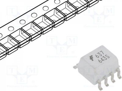 HCPL0637 - 1pcs Optocoupler; SMD; Channels:2; Out: logic; 3.75kV; 10Mbps; SO8
