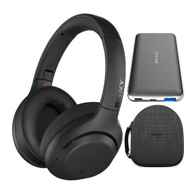 Sony WH-XB900N EXTRA BASS Wireless Noise Canceling Headphones (Black) Bundle