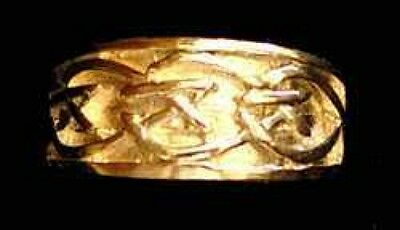 LOOK Gold plated Celtic  Silver Ring Infinity knot Jewelry