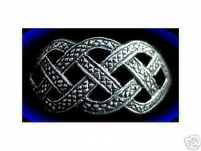 LOOK Sterling Silver CELTIC INFINITY KNOT Ring Weave Jewelry