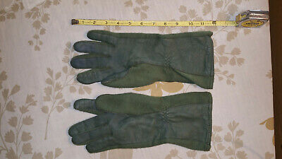 Olive Drab Military Sheepskin Leather Flame /& Heat Resistant Flight Gloves 3457