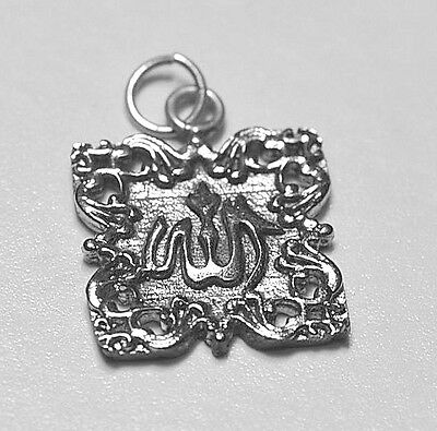 LOOK Beautiful name of Allah Calligraphy Charm Muslim Islamic Sterling Silver Is