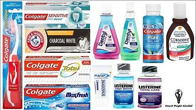 Travel size Toothpaste,Toothbrush & Mouthwash Colgate, Corsodyl, + lots more