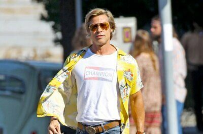 NEW Once Upon a Time in Hollywood Champion Brad Pitt Movie 2019 T shirt Hot Tee