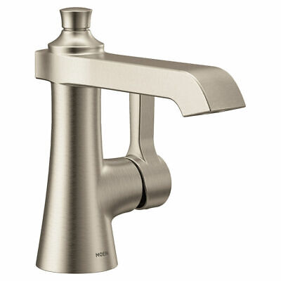Moen S6981BN Flara One Handle Lavatory Faucet, 1.2 GPM - Brushed Nickel