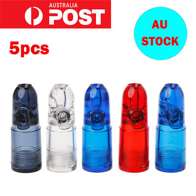 5x Acrylic Snuff Bottle Bullet Snuff Plastic Material Easy To Carry