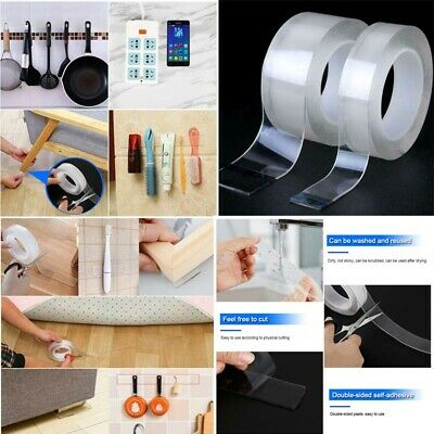 Magic Double-sided Tape Traceless Washable Adhesive Tape Nano Invisible Gel US2R