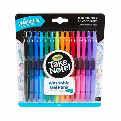 Crayola Take Note, Washable Gel Pens, 14 Count