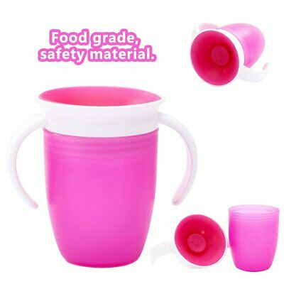 Non Spill Chew Proof Miracle Toddler Baby Training Sippy 360 Trainer Cup !R