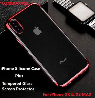 Apple iPhone  XR / XS MAX Silicone case and Premium Screen Protector[COMBO PACK]
