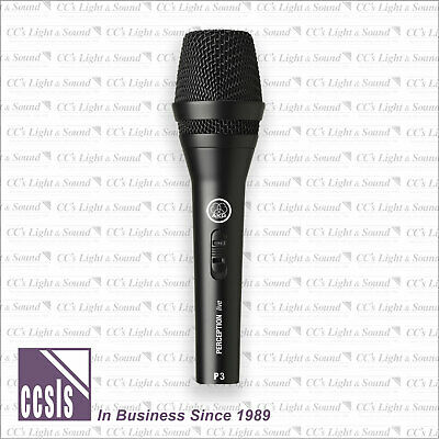 AKG P3S High-Performance Dynamic Vocal Microphone with Switch
